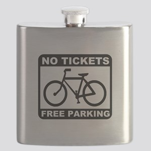 Bike No Tickets Black Flask