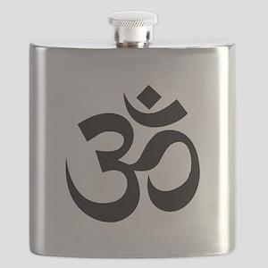 Yoga Om Black Flask