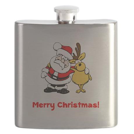 Christmas Santa Reindeer Red.png Flask