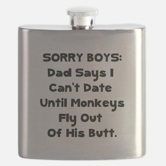 Sorry Boys Black.png Flask