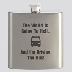 Bus To Hell Black Flask