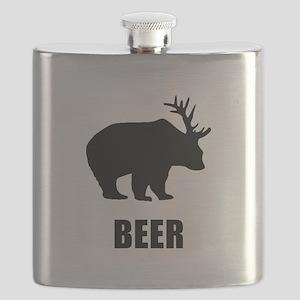 Beer Bear Black Flask