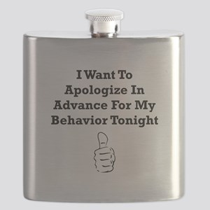Apologize In Advance Black Flask