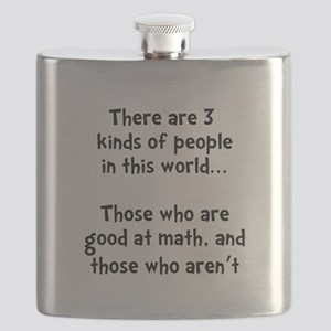 Math People Black Flask