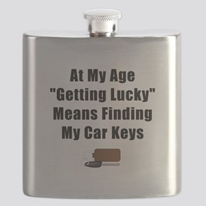 Getting Lucky Black Flask