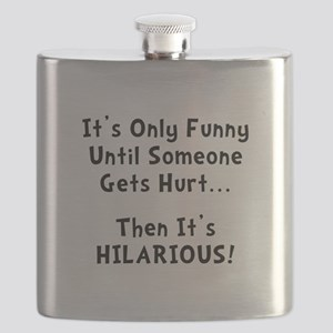 Funny Hurts Black Flask