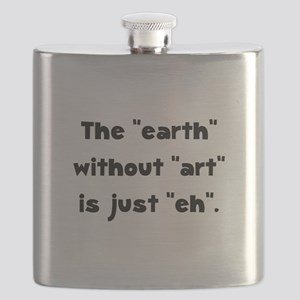 Earth Without Art Black Flask