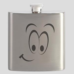 Cartoon Smile Black Flask