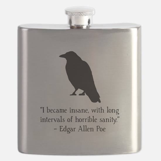 Edgar Allen Poe Quote Black.png Flask