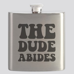 The Dude Abides Black Flask