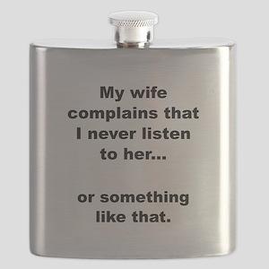 Wife Complains Black Flask