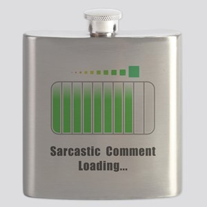 Sarcastic Comment Loading Black Flask