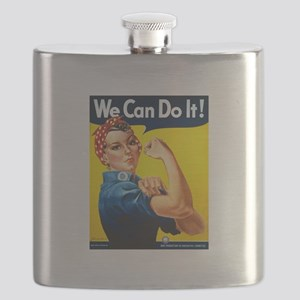 Rosie The Riveter Yellow Flask