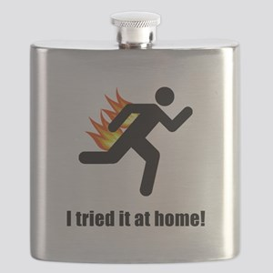I Tried It At Home Black SOT Flask