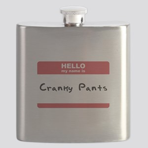 Hello My Name Is Cracnky Pants SOT Flask