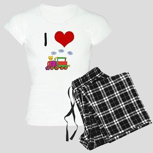 I Love Trains Women's Light Pajamas