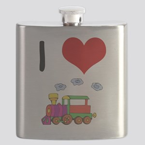 I Love Trains Flask