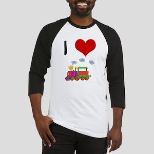 I Love Trains Baseball Jersey