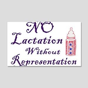 No Lactation Without Representation! 20x12 Wall De