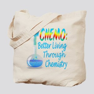 Funny Cancer CHEMO Chemistry Blue Tote Bag
