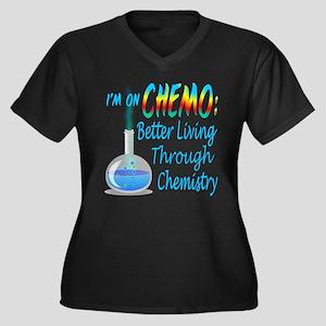 Funny Cancer Women's Plus Size V-Neck Dark T-Shirt