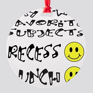 LUNCH AND RECESS Round Ornament