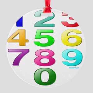 COUNTING/NUMBERS Round Ornament