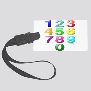 COUNTING/NUMBERS Large Luggage Tag