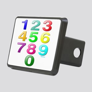 COUNTING/NUMBERS Rectangular Hitch Cover
