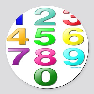COUNTING/NUMBERS Round Car Magnet