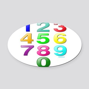 COUNTING/NUMBERS Oval Car Magnet