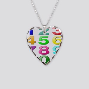 COUNTING/NUMBERS Necklace Heart Charm