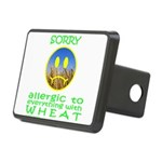 ALLERGIC TO WHEAT Rectangular Hitch Cover