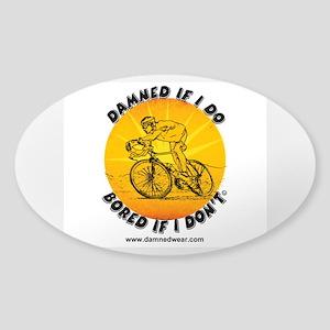 Official Damnedwear.com logo Sticker (Oval)