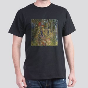 Klimt Farm Garden With Crucifix Dark T-Shirt