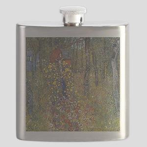Klimt Farm Garden With Crucifix Flask