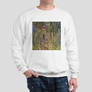 Klimt Farm Garden With Crucifix Sweatshirt