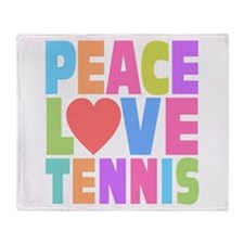 Peace Love Tennis Throw Blanket
