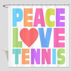 Peace Love Tennis Shower Curtain