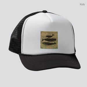 Vintage Whale Art Rustic Design Kids Trucker hat