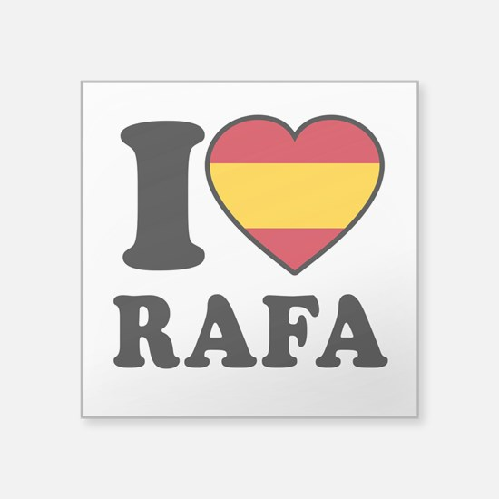 "I Love Rafa Nadal Square Sticker 3"" x 3"""