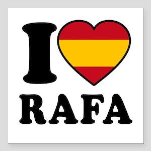 """I Love Rafa Nadal Square Car Magnet 3"""" x 3"""""""