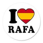 I Love Rafa Nadal Round Car Magnet