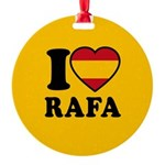 I Love Rafa Nadal Round Ornament