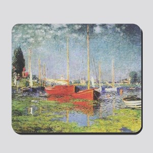 Red Boats at Argenteuil Mousepad