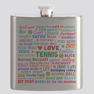 Tennis Terms Flask