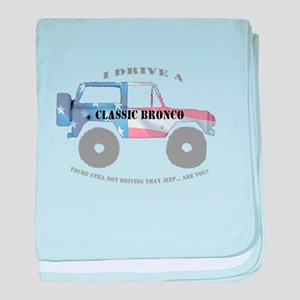 You're not driving a Jeep, are you? baby blanket