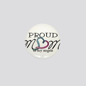 Proud mom of angels Mini Button