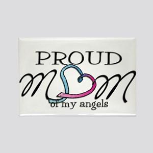 Proud mom of angels Rectangle Magnet