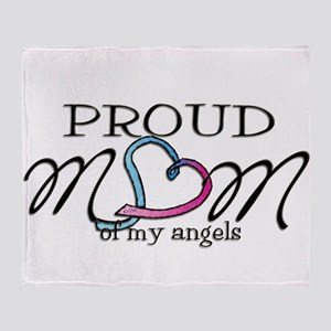 Proud mom of angels Throw Blanket